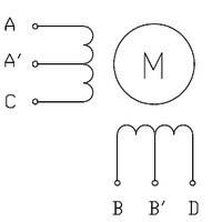 Silnik krokowy unipolarny - 6 przewodów