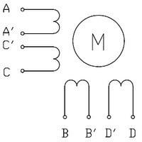 Silnik krokowy unipolarny - 8 przewodów